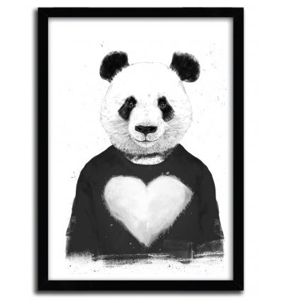 Affiche lovely panda par BALAZS SOLTI