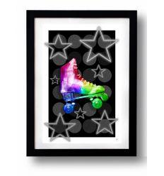 Affiche ROLLER BABE RAINBOW SIMUL RAINBOW par Rubiant