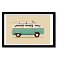 Affiche blue van by Florent Bodart