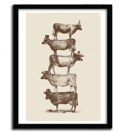 Affiche cow cow nuts by Florent Bodart