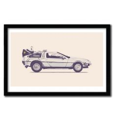 Affiche delorean by Florent Bodart