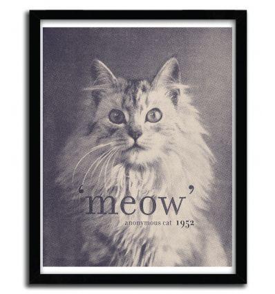 Affiche famous cat by Florent Bodart