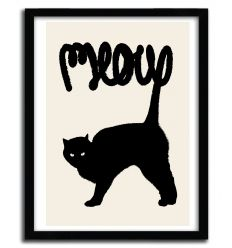 Affiche meow by Florent Bodart