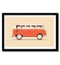 Affiche red van by Florent Bodart