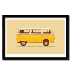 Affiche yellow van by Florent Bodart