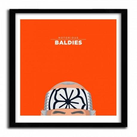 Affiche Notorious Baldie MR. MIYAGI by Mr Peruca