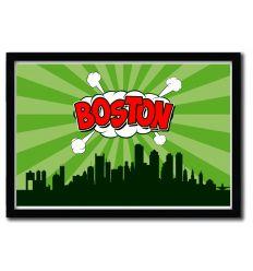 Affiche Boston par OCTAVIAN MIELU