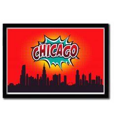 Affiche Chicago par OCTAVIAN MIELU