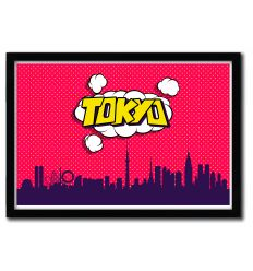 Affiche Tokyo par OCTAVIAN MIELU
