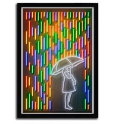 Affiche rain girl par OCTAVIAN MIELU