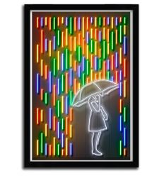 Art Print rain girl by OCTAVIAN MIELU