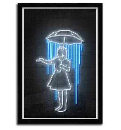 Affiche umbrella girl par OCTAVIAN MIELU