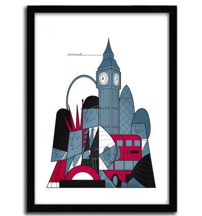 Affiche London par Ale Giorgini