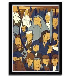 Affiche Seigneur des Anneaux par Ale Giorgini