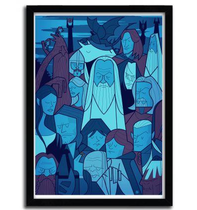 Affiche Seigneur des Anneaux 2 par Ale Giorgini