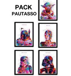 pack Affiche 5 SW WHITE par Alessandro Pautasso