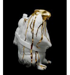 Sculpture Marmot White Porcelain Edition by SWEETLOVE