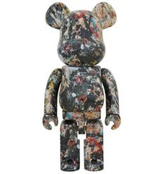 Sculpture bearbrick 1000% jackson pollock 2nd edition by Medicom Toys