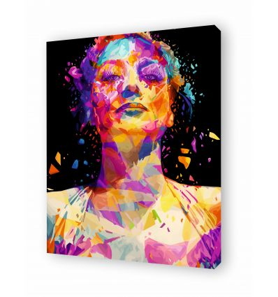 Canvas JOAN CRAWFORD by Alessandro Pautasso