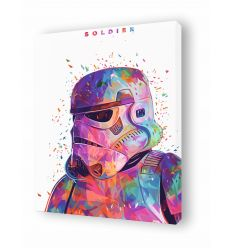 Canvas SOLDIER WHITE by Alessandro Pautasso
