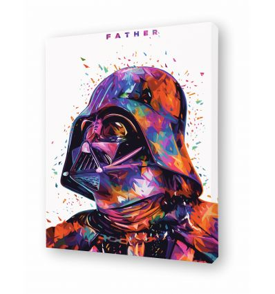 Canvas FATHER WHITE by Alessandro Pautasso