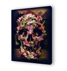 Canvas floral skull 2 by Ali Gulec