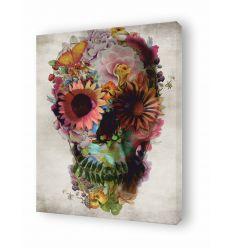 Tableau floral skull 2 par Ali Gulec