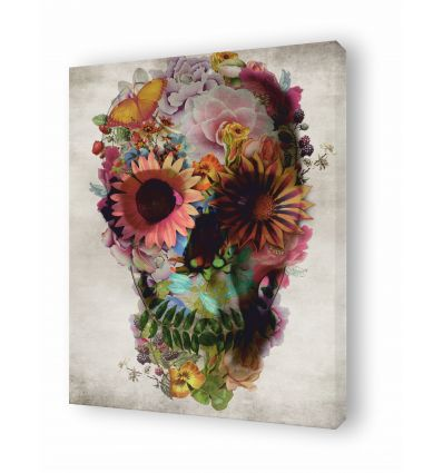 Canvas floral skull 2 by Ali Gulec
