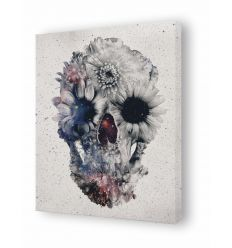 Canvas floral skull 3 by Ali Gulec