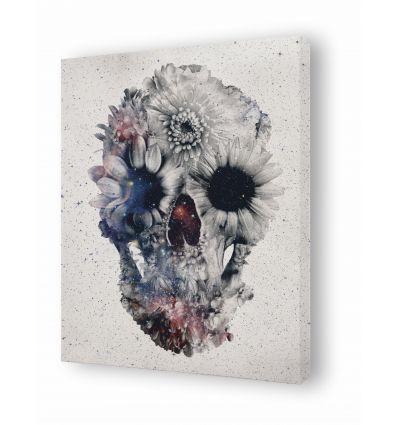 Canvas floral skull 3 by Ali Gulec