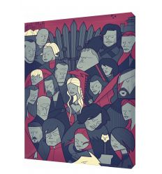 Canvas WINTER IS COMING by Ale Giorgini