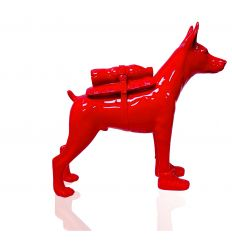 Sculpture Cloned Doberman with pet bottle by SWEETLOVE