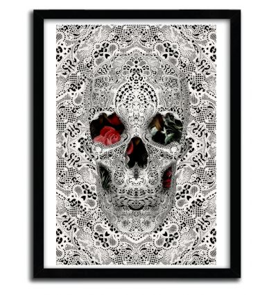 Affiche lace skull 2 par ALI GULEC