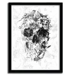 Affiche new skull light BW par ALI GULEC