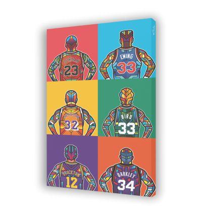 Canvas NBA LEGENDE by VAN ORTON