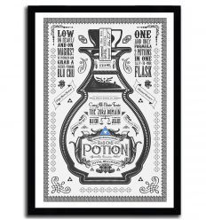 Affiche blue potion par Barrett Biggers