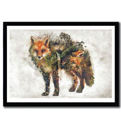 Affiche kitsune par Barrett Biggers