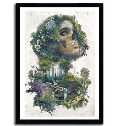 Affiche life and death par Barrett Biggers