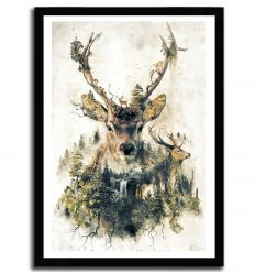 Affiche the deer par Barrett Biggers