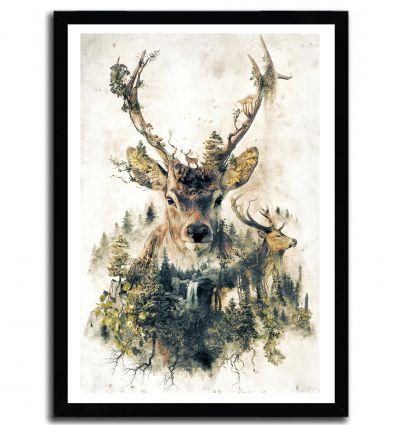 Affiche the deer par Barrett Biggers