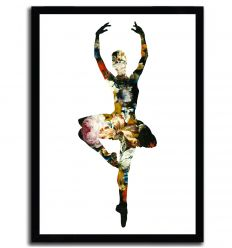 En dedans pirouette avec des fleurs by AGENT X
