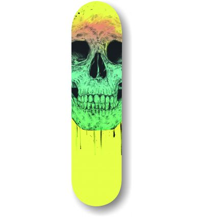 pop art skull skate by Balasz Solti