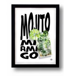 Affiche MOJITO MI AMIGO par Rubiant