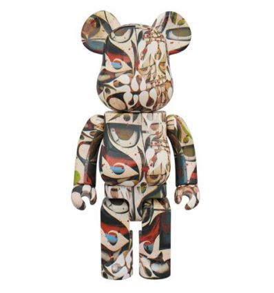 Sculpture bearbrick 1000% Phil Frost by Medicom Toys