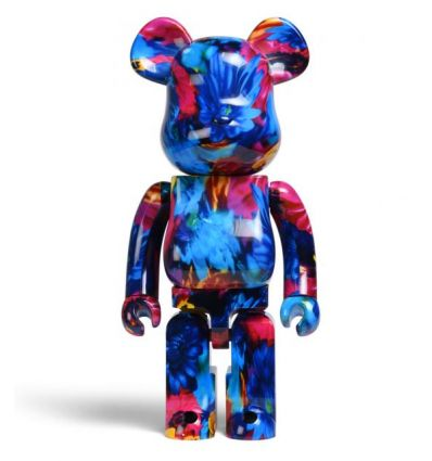 Sculpture bearbrick 1000% Anemone by Mika Ninagawa by Medicom Toys