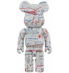 Sculpture bearbrick 1000% Jean-Michel Basquiat V2