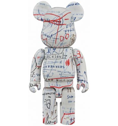 Sculpture bearbrick 1000% Jean-Michel Basquiat V2