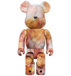 Sculpture bearbrick 1000% Marble by Pushead