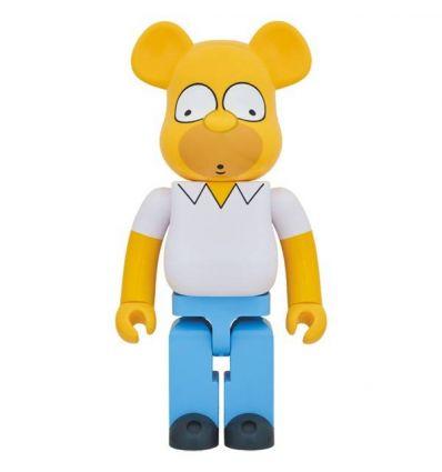 Sculpture bearbrick 1000% Homer Simpson