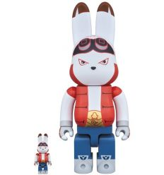 Sculpture bearbrick 400% & 100% set - Pink Byron by Shoko Nakazawa